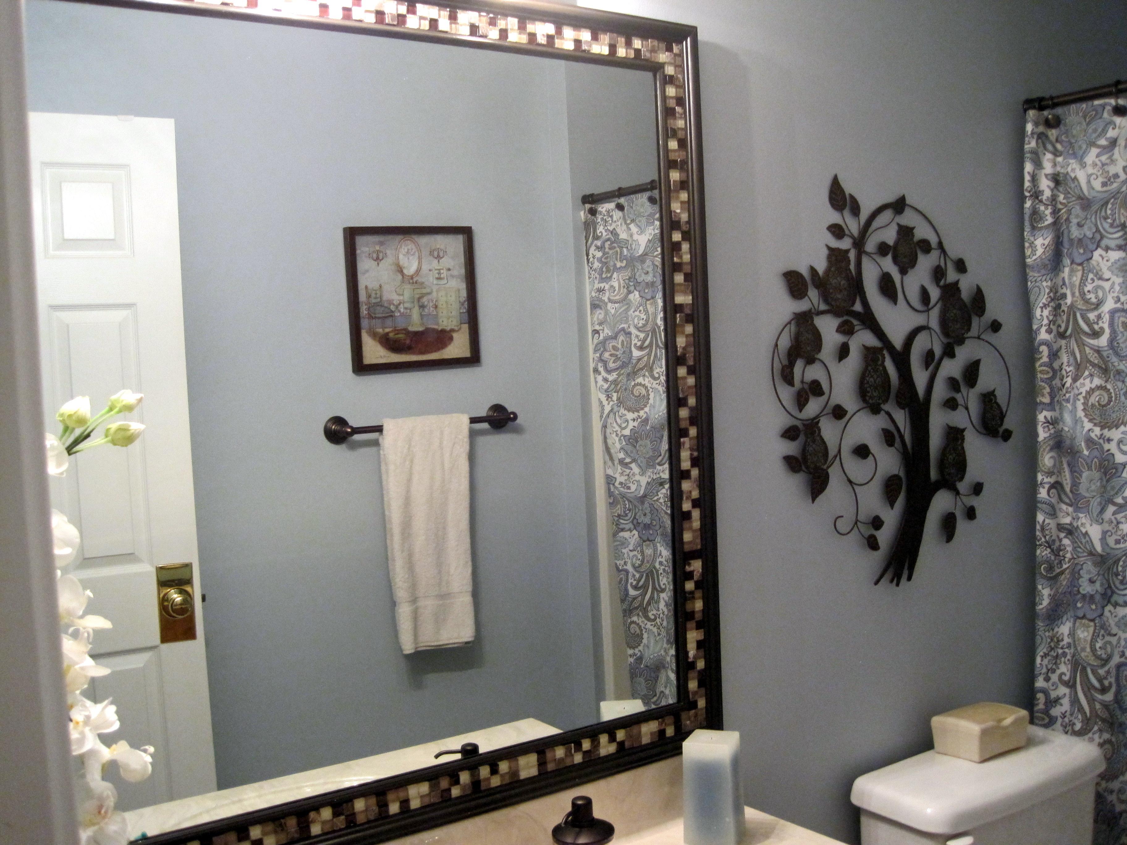 Framing a Bathroom Mirror – 'Cuz That's How I Roll…