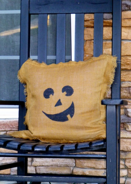 Burlap Pumpkin Pillow