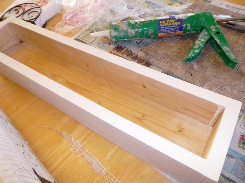 DIY Tiled Planter Box supplies