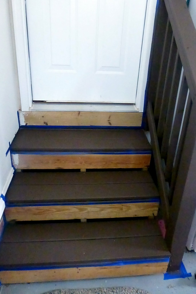renewing garage steps