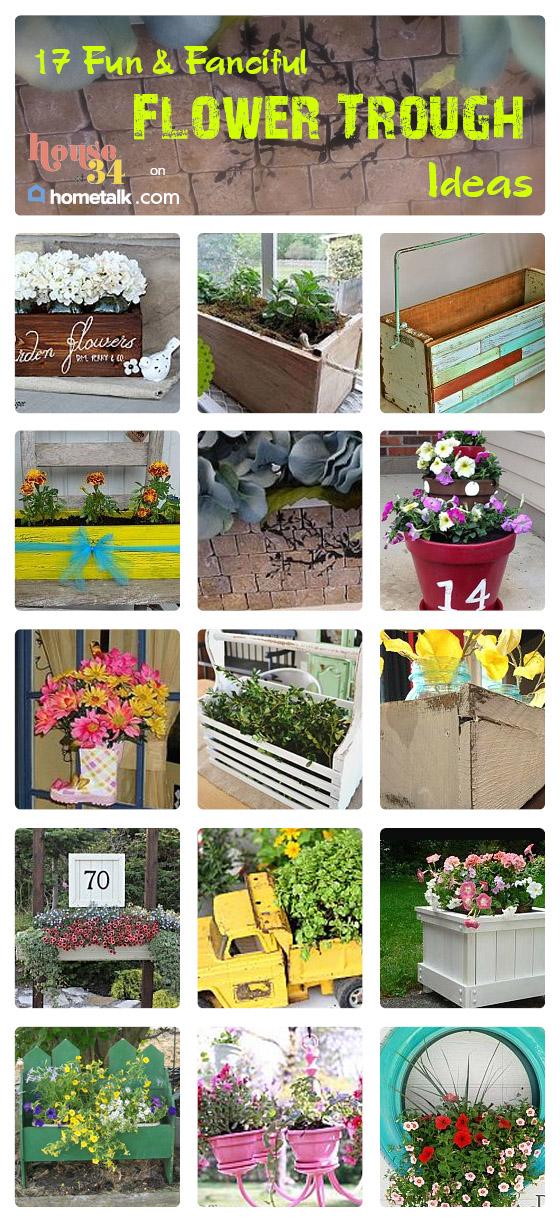 Flower Trough Planter ideas