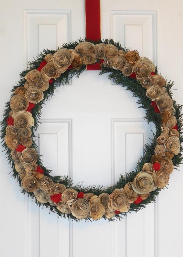 Music sheet Christmas Wreath