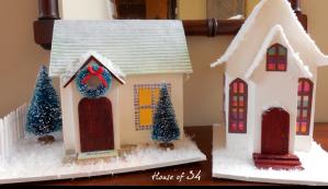 Christmas Paper Houses