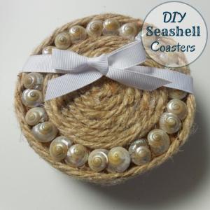 DIY Seashell Coasters