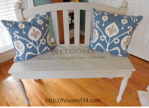 Headboard Bench Makeover