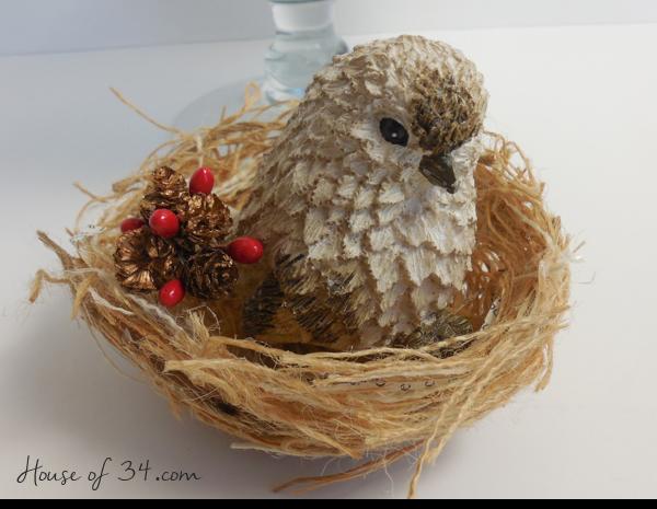 DIY Burlap Bird Nest